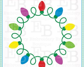 Christmas Light Frame SVG - This design is to be used on an electronic cutting machine. Instant Download