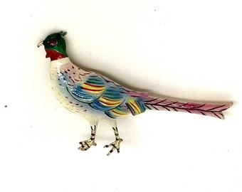 Vintage Pheasant Brooch