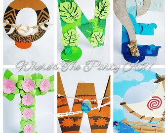 Moana Inspired Name Letters