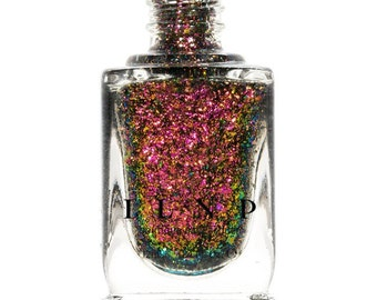 Electric Carnival -  Red, Pink, Gold, Green Ultra Chrome Color Shifting Flakie Nail Polish