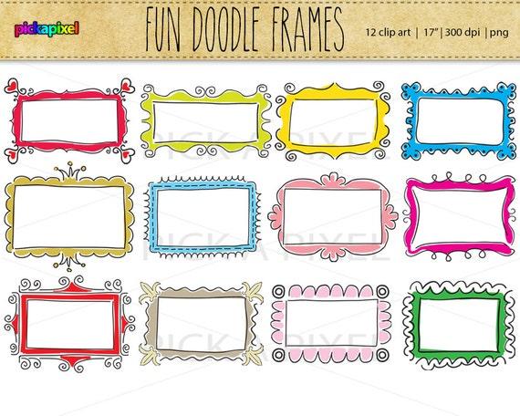 Digitale Doodle-Spaß-Rahmen ClipArt persönlichen und