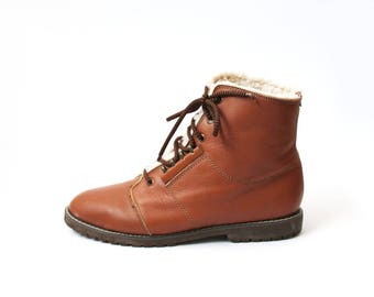 1990s Shearling Oxfords Ankle Boots