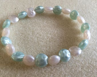 green pearlised bracelet