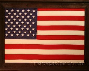 Dark Barnwood Framed 2 x 3 foot United States flag