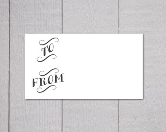 To and From Gift Tag Stickers, Package Stickers, Gift Wrapping Stickers (#303)