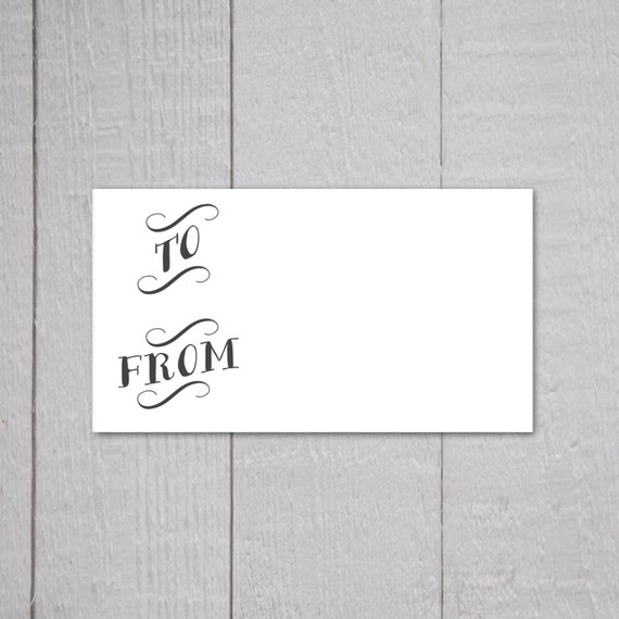 To and from gift tag stickers package stickers gift wrapping