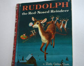 Vintage Children's Book, Rudolph the Red Nosed Reindeer