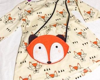 Girls long sleeve Fox dress