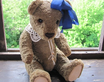 Vintage Teddy bear, hand made, author's toy, OOAK, artist teddy bear, jointed, stuffed & plush animals, collectable jointed bear, unique