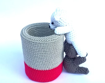 Crochet pen holder, Cute desk accessories, Amigurumi pencil holder, Cute office decor