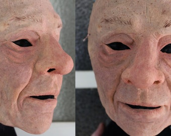 Old Man/Old Woman Mask - Realistic Old Person Costume