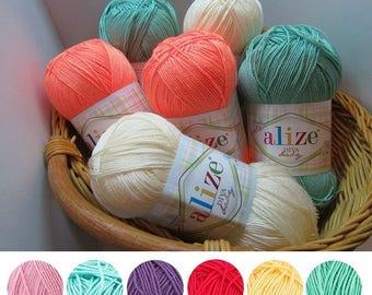 Yarn Alize Diva Baby yarn 100% microfiber yarn baby yarn children's yarn acrylic yarn hypoallergenic yarn microfiber thread summery yarn
