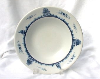 Buffalo China Restaurant Soup Bowl Gandy's Blue Sailing Ships