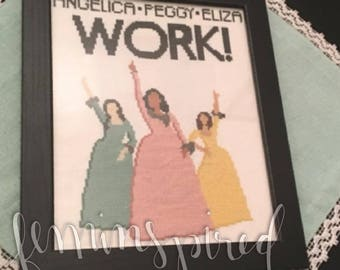 Schuyler Sisters - Cross Stitch Pattern, Instant Download