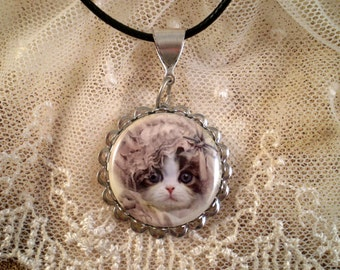 Cat Necklace Jewelry Gift for Her Cat Lovers Gift