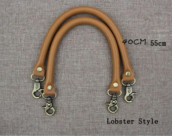 Two PCS / One Pair, Camel Lobster Style Pleather Bag Purse Handle Drop - 40cm or 55 cm Length