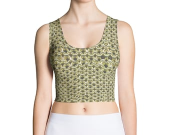 Gold Knight's Chainmail Fantasy Medieval Armor Crop Top