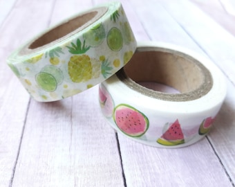 Pineapple & Watermelon Washi Tape Embellishments And Paper Craft Supplies