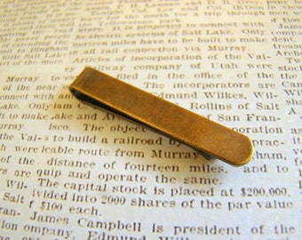 With A Stylish Gift Box! Skinny Tie Clip, Brass Tie Clip, Tie Clip for Narrow Ties, Great for Groomsmen's Gifts TC813S-AB