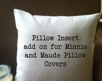 """16""""x16"""" synthetic down pillow insert for our 14"""" pillow covers/non-allergenic"""