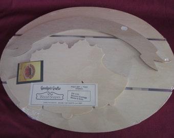 "Caroline's Crafts,Season's Greetings,Christmas,wood shapes,12""x16"",bells,folk art,tole painting"
