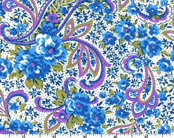 SALE - Floral Paisley - Blue from EE Schenck