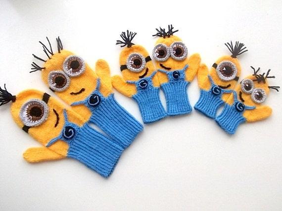 Kinder Baby Adult verächtlich mich Minion Handschuhe