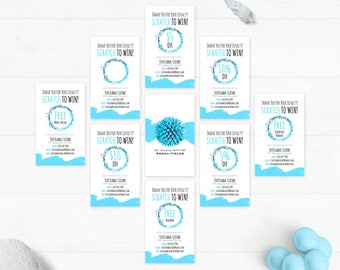 Rodan and Fields Scratch Cards, R and F PC Prize, RF Scratch To Win, Promotion, Rewards Customer Cards, Digital Files, Personalized