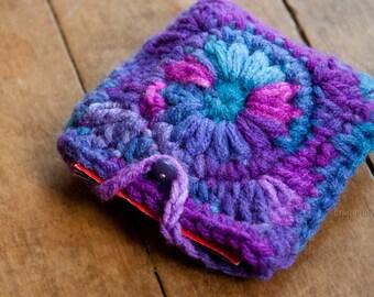 tea bag wallet, tea bag tote, tea bag pouch, colorful tea pouch