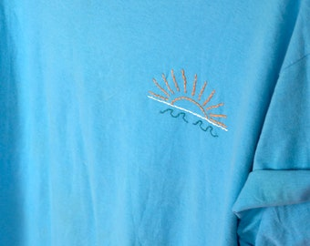 sunrise [ hand embroidered t shirt ]