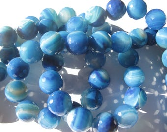 big agate colored facette12 mm approximately (4-7)