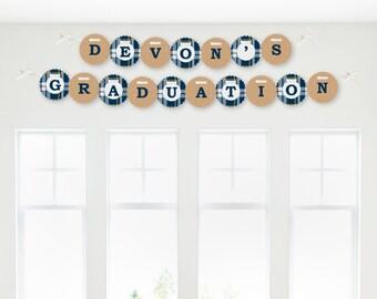 Grad Keys to Success Garland Banner - Custom Graduation Party Decorations