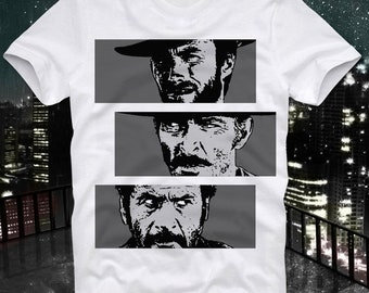 The Good The Bad and The Ugly Movie Cult Acid Western Clint Eastwood Retro Vintage T Shirt Tee