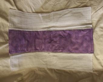 Burp Cloth, Flannel Print, 100% Cotton, Purple, Ready to Ship