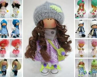 Textile Doll Handmade Doll Fabric Doll Nursery Doll Interior Doll Art Doll Cloth Doll Soft Doll Purple Doll Baby Doll Rag Doll by Ksenia