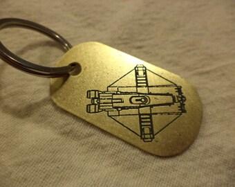 Star Wars Rebels inspired Brass Keychain