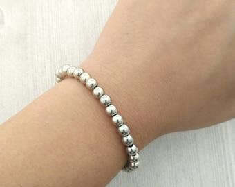 Minimalism, beaded bracelet, stackable, less is more, simple bracelet, stretchy bracelet, ladies jewelry