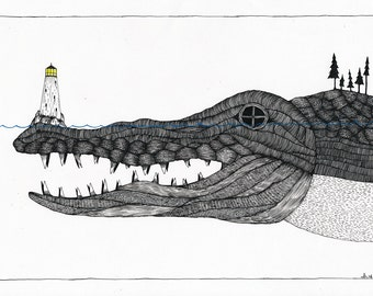 I Eat Ships Like You For Breakfast - Original Drawing