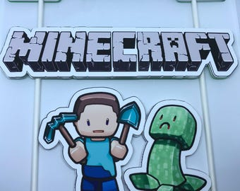Personalized Minecraft Cake Topper