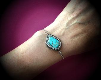 Turquoise Bling Bracelet