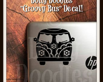 Groovy Bus Vinyl Decal - VW Inspired Bus Decal