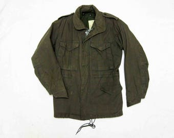 Vintage US Army M1943 Field Jacket with Hood. Circa 1950's.