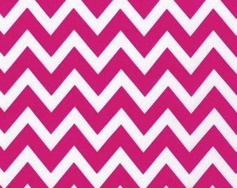 Ann Kelle Remix Zig Zag Pink Bright Fabric - REMNANT Size 30 Inches by 44 Inches