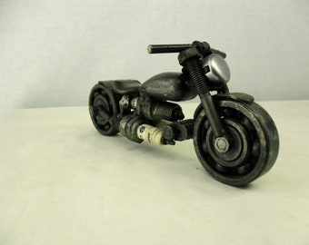 Sculpture motorcycle. Metal. Art