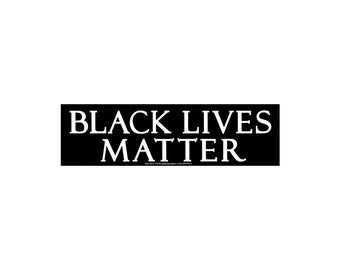 Black Lives Matter - Civil Rights Small Bumper Sticker / Decal or Magnet