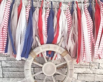 Ready made Nautical themed tassel garland