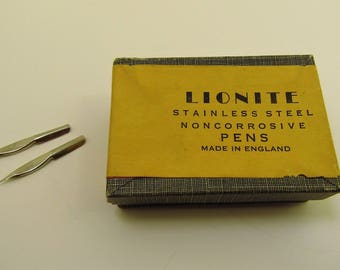 Vintage English Lionite Fountain Pen Nibs