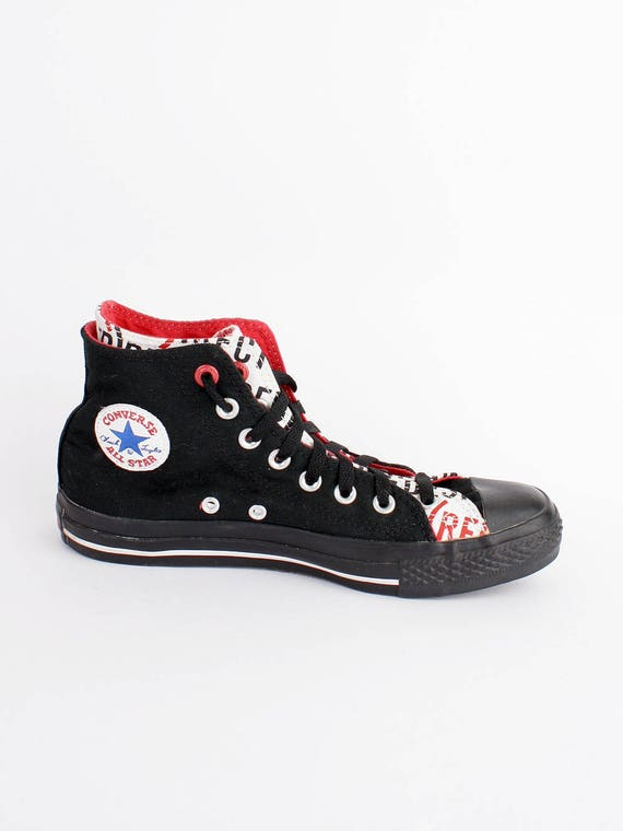 fetching how to design converse shoes at home. EU 39  black limited edition Converse All Star hi top Chuckies size uk 6 US men women 8 product RED sneakers chuck taylor