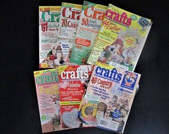 Vintage Lot of 7 CRAFTS Magazines 1995