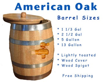 American Oak Barrels for Wine, Vinegar, Kombucha, Ginger Beer